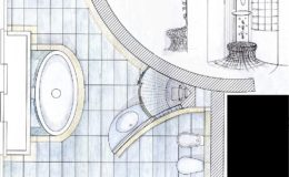 egyedi fürdő alaprajz