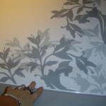 Dekoratív zuhanytáca szép minbtával